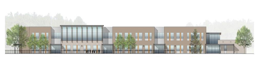 D Front Elevation Of School : Cost management for the north bay elementary school